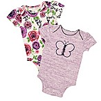Baby Starters® Size 3M 2-Pack Butterfly Bodysuits in Grey