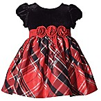 Bonnie Baby Size 3-6M Plaid Short Sleeve Dress in Red