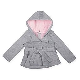 Fleece Ruffle Jacket in Grey
