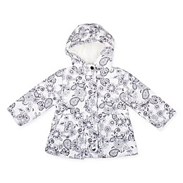 Floral Hooded Jacket in Black/White