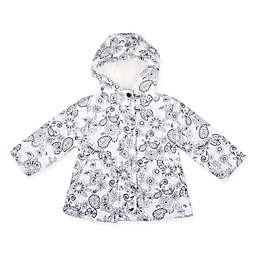 Floral Hooded Jacket in Black/White