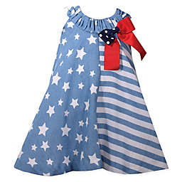 Bonnie Baby Stars and Stripes Dress in Blue