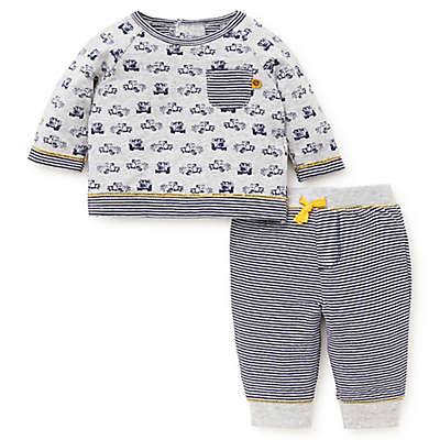 Offspring 2-Piece Truck Stop Shirt and Pant Set in Grey