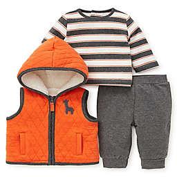 Offspring 3-Piece Jungle Jam Vest, Shirt, and Pant Set in Orange/Grey