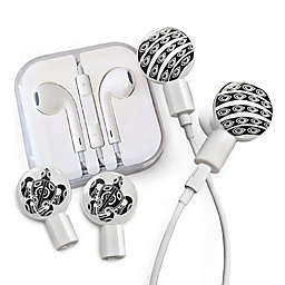 dekaSlides Earbuds with I See You and Turtle Slide-On Graphics Set in White