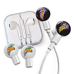 dekaSlides Earbuds with Pizza Mouth and Winged Taco Slide-On Graphics Set in White