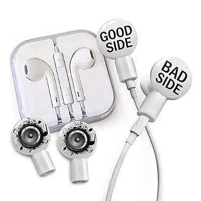 dekaSlides Good or Bad and Hear it Loud Slides with In-Ear Headphones in White