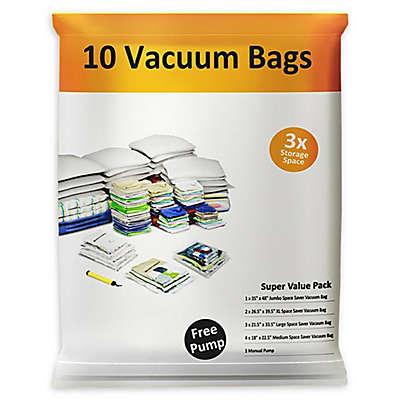 Everyday Home Vacuum Storage Bag Set in White