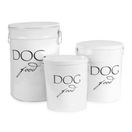 harry barker dog food storage canister in white bed bath beyond. Black Bedroom Furniture Sets. Home Design Ideas