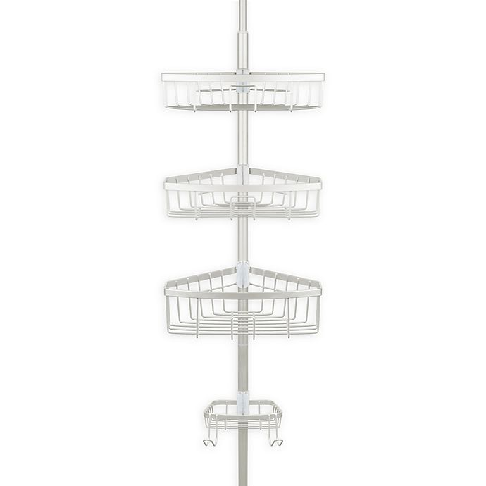 Alternate image 1 for Richards Homewares Steel Tension Corner Shower Caddy