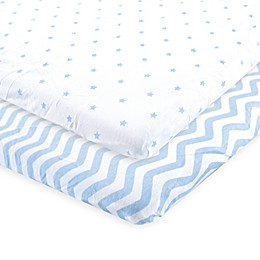 Luvable Friends® 2-Pack Chevron and Dots Fitted Playard Sheets