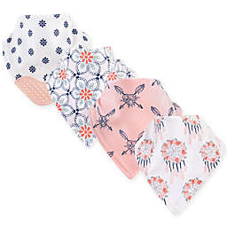 Yoga Sprout 4-Pack Dream Catcher Bandana Bib With Teether in Pink