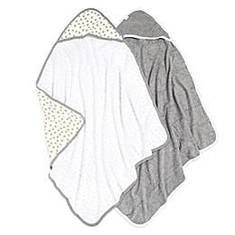 Burt's Bees Baby® 2-Pack Hooded Towels in Cloud