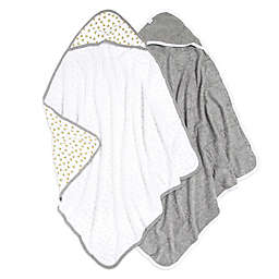 Burt's Bees Baby® 2-Pack Hooded Towels in Cloud