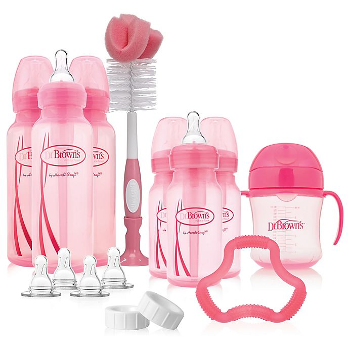 Alternate image 1 for Dr. Brown's® Options+™ Bottle Gift Set in Pink