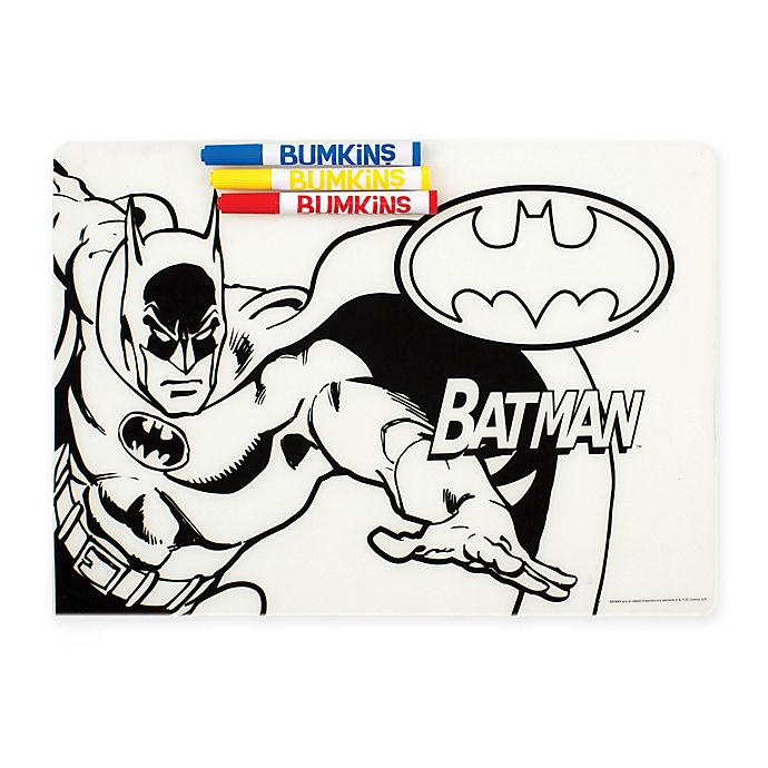 Alternate image 1 for Bumkins® DC Comics™ Batman Silicone Coloring Placemat