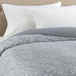 The Seasons Collection® HomeGrown™ Paisley Flannel Duvet Cover in Grey