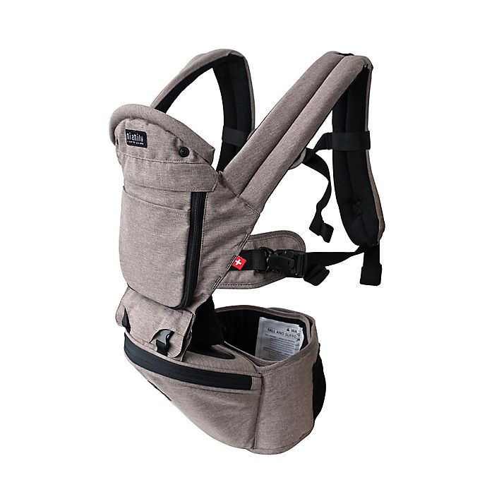 Alternate image 1 for MiaMily Hipster Plus 3D baby carrier in Light Grey