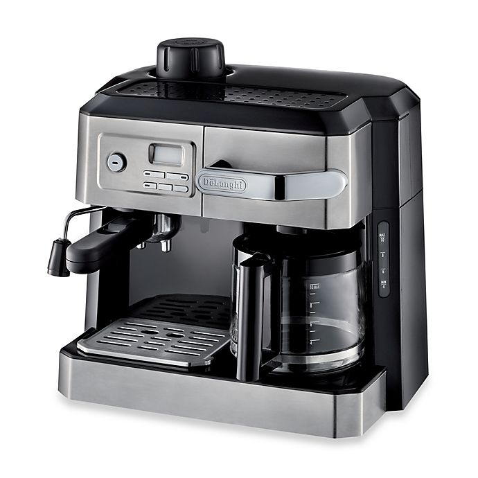 Alternate image 1 for De'Longhi BCO330T Combination Steam Espresso Drip Coffee Cappuccino and Latte Machine in Silver