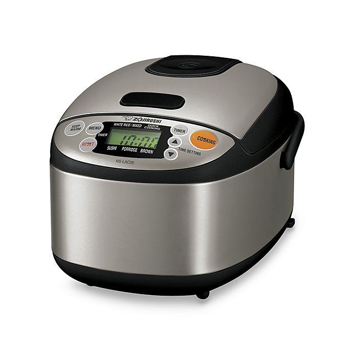 Alternate image 1 for Zojirushi Micom 3-Cup Capacity Rice Cooker in Black