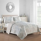Freesia Reversible King Quilt in Grey