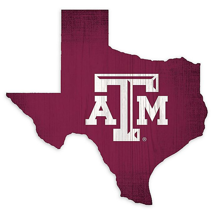 Alternate image 1 for Texas A&M University Team Color Logo State Sign