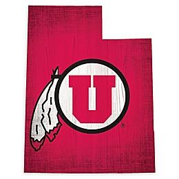 University of Utah Team Color Logo State Sign