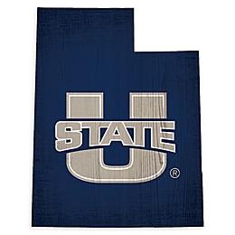 Utah State University Team Color Logo State Sign