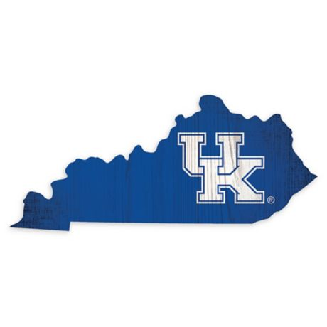 University Of Kentucky Team Color Logo State Sign Bed