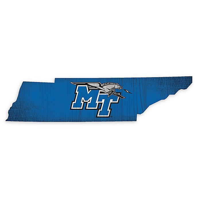 Alternate image 1 for Middle Tennessee State University Team Color Logo State Sign