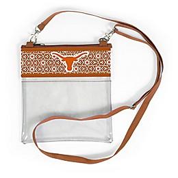 University of Texas Floral Clear Crossbody Bag