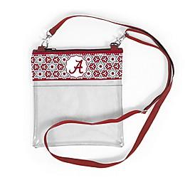 University of Alabama Floral Clear Crossbody Bag