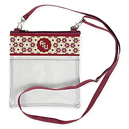 Florida State University Floral Clear Crossbody Bag