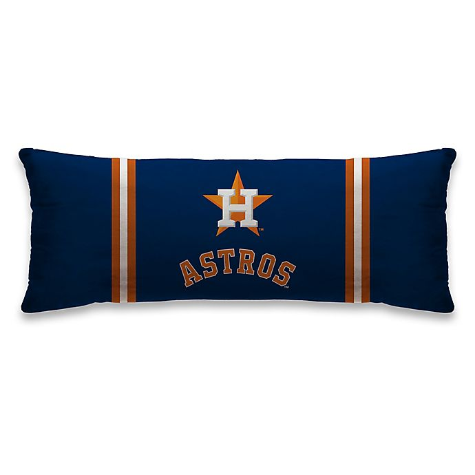 Alternate image 1 for MLB Houston Astros Microplush Logo Body Pillow