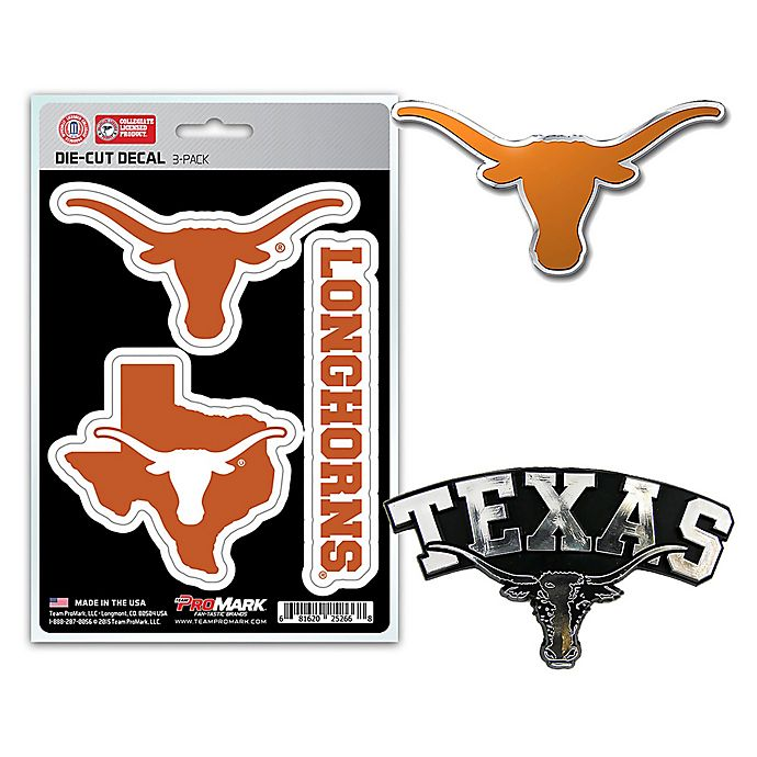 NCAA Texas Longhorns Chrome Auto Sticker Emblem Decal