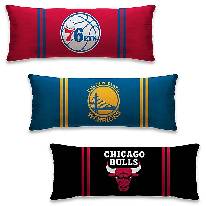NBA Microplush Logo Body Pillow | Bed Bath & Beyond