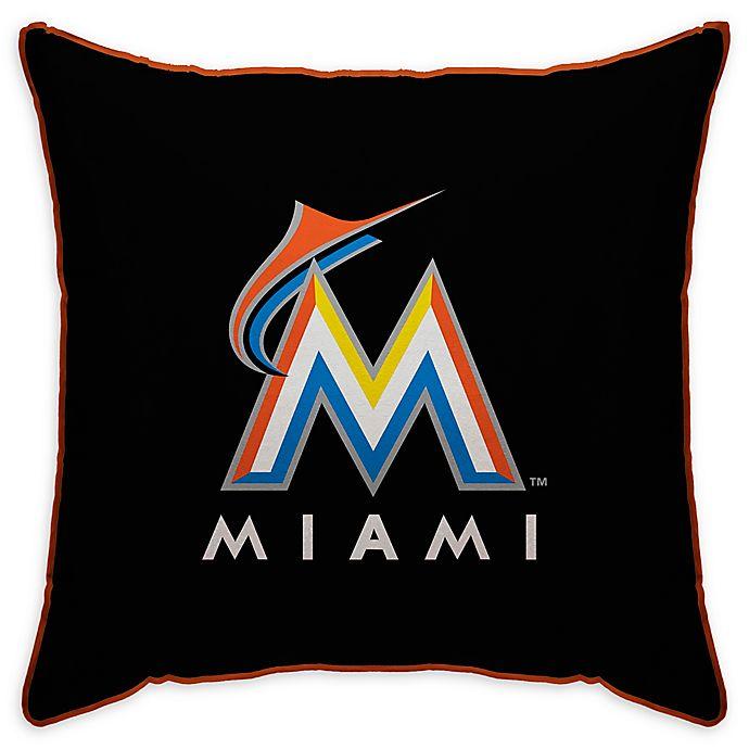 Alternate image 1 for MLB Miami Marlins Logo Throw Pillow