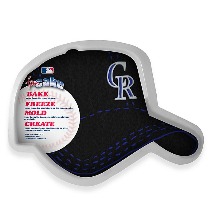 Alternate image 1 for MLB Colorado Rockies Fan Cake Silicone Cake Pan