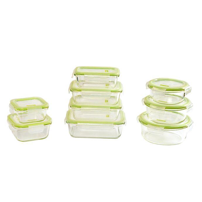Alternate image 1 for Keeperz 18-Piece Clear Glass Food Storage Set