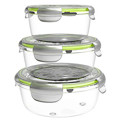 Classic Cuisine 6-Piece Clear Food Storage Containers Set