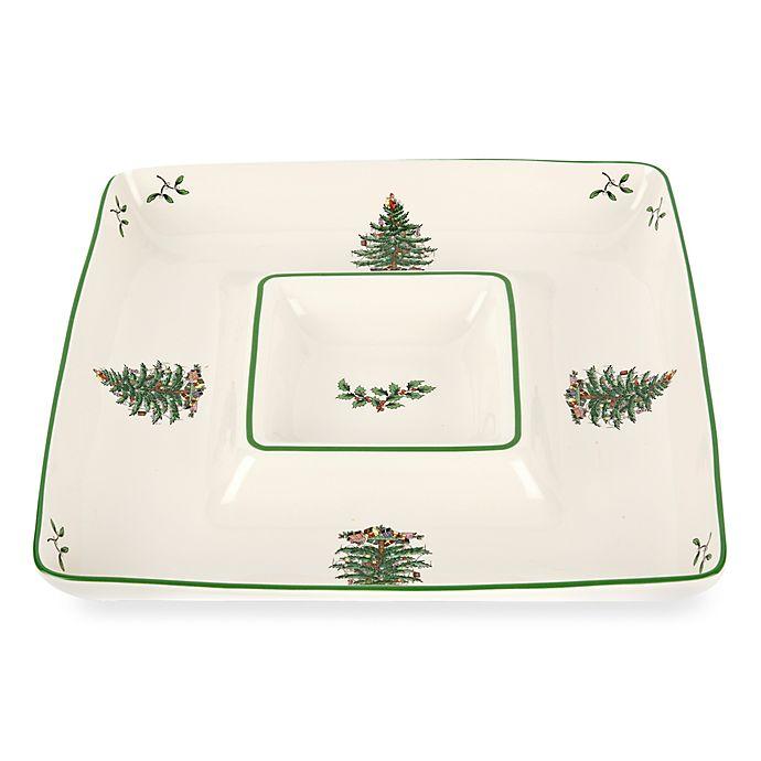 Alternate image 1 for Spode® Christmas Tree Square Chip N' Dip
