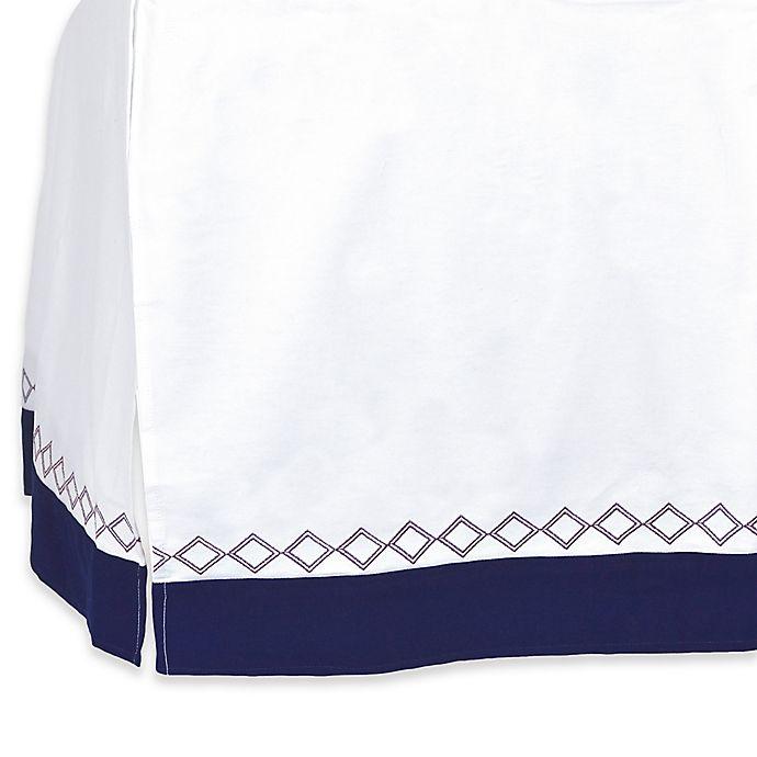 Alternate image 1 for Just Born® Dream Crib Skirt in Navy