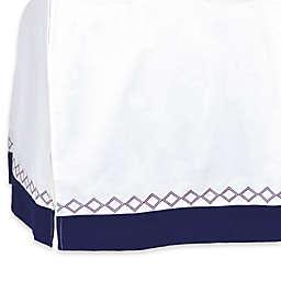 Just Born® Dream Crib Skirt in Navy
