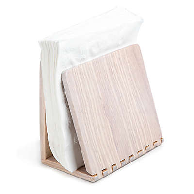 Medici Wood Napkin Holder in White Wash