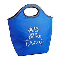 Fit & Fresh® Burlingame My Heart Says Tacos Neoprene Lunch Bag in Blue