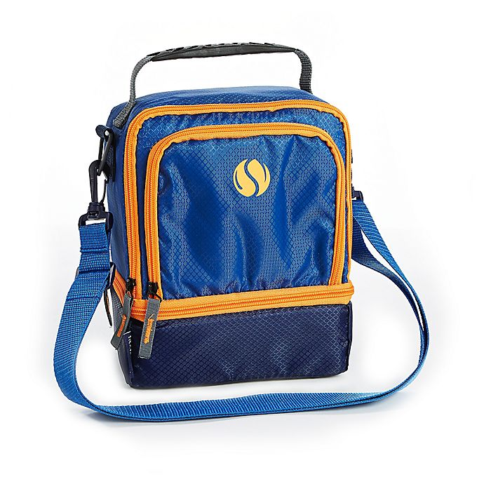 Alternate image 1 for Fit & Fresh® The Sport Insulated Dual Compartment Lunch Bag in Blue