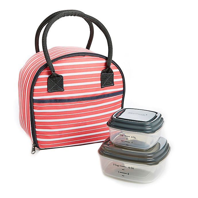 Alternate image 1 for Fit & Fresh® 3-Piece Carson Lunch Bag Kit in Coral