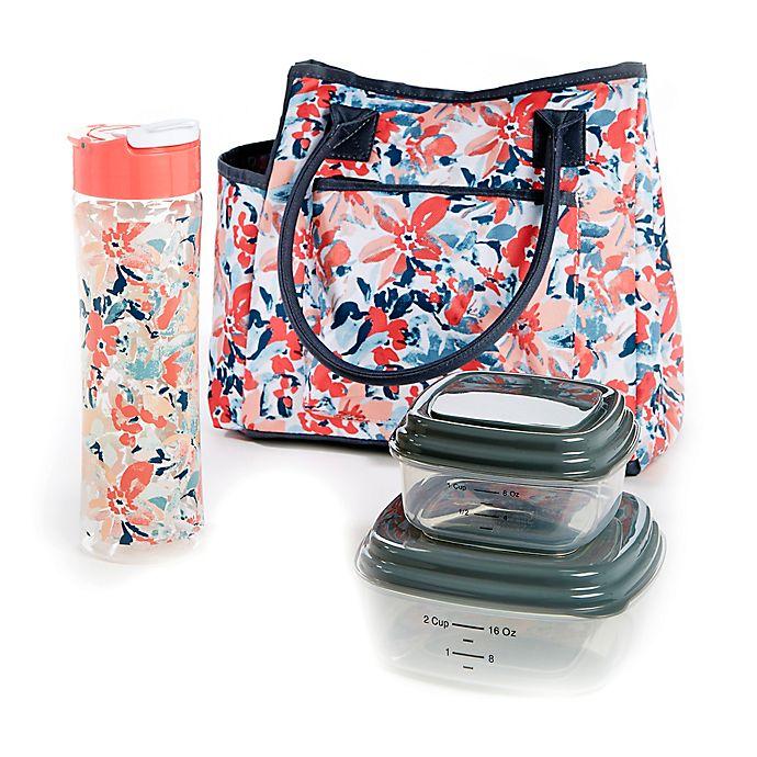 25cb11d8b4bb Fit & Fresh® Asheville 5-Piece Lunch Bag Set in Pink/Blue | Bed Bath ...