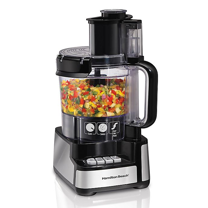 Alternate image 1 for Hamilton Beach® Stack & Snap™12-Cup Food Processor in Black