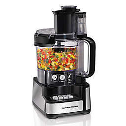 Hamilton Beach® Stack & Snap™12-Cup Food Processor in Black